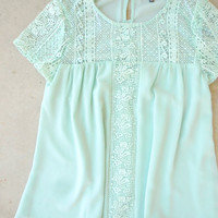 Sea Breezy Top in Mint [6974] - $32.00 : Feminine, Bohemian, & Vintage Inspired Clothing at Affordable Prices, deloom