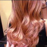 # Rose-Gold Blond Hair Color
