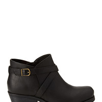 FOREVER 21 Buckled Moto Booties