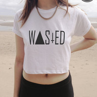 WASTED YOUTH crop top tshirt tank top white black and by SanFranCo