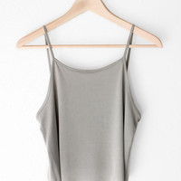 Basic Cropped Cami - Olive