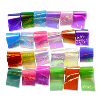 24 Different Color Broken Glass Starry Nail Foils Nail Art Sticker Decals Fashion Laser Shinning Tips DIY Beauty Tools TRND285
