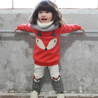 Girls winter clothes fox Children Clothing sets baby pullover autumn toddler girl tracksuit kids sport clothes set christmas