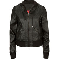 THERAPY Womens Hooded Faux Leather Jacket 212950100 | Jackets | Tillys.com