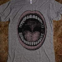MOUTH AMERICAN APPAREL UNISEX ATHLETIC TEE