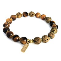 Tigers Eye Essential Oil Diffuser Bracelet