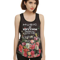 Plato Music Quote Sublimation Girls Tank Top