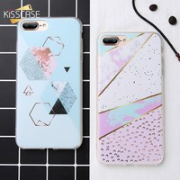 KISSCASE Case For Samsung Galaxy Note 9 8 S9 S8 Plus Soft TPU Geometry Marble Phone Case For Samsung Galaxy A3 A5 A7 J 2016 2017