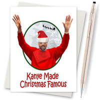 Kanye West. Christmas Gift. Christmas Card. Gift For Husband. New Parents Card. Boyfriend Gift. Gift For Him. Famous Taylor. Card For Friend