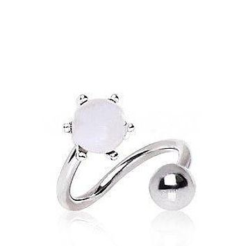Pearl Twist Navel Belly Ring