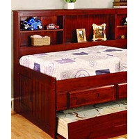 Sophie Daybed with Bookcase Headboard and Six Storage Drawers