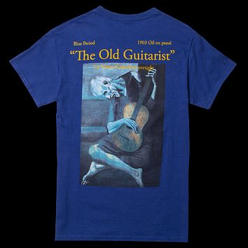 Altru Apparel Old Guitarist, Art Is The Lie tee shirt