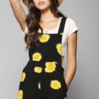 Coincidence & Chance Sunflower Overall Short - Urban Outfitters