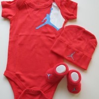 Nike Jordan Infant New Born Baby Layette 3 Piece Set