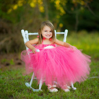 Coral and ivory Junior Bridesmaid Dress, pink Flower Girl tutu Dress, Flower girl tutu Dress, Tulle Flower girl dress, Coral Tutu Dress