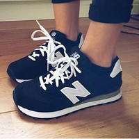 Onewel New Balance Z-shaped shoes sports casual running shoes tide retro shoes Black