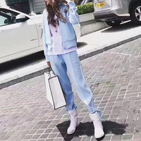 """""""Givenchy"""" Women Casual Embroidery Letter Star Stripe Zip Cardigan Long Sleeve Set Two-Piece Sportswear"""
