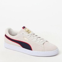 Puma Suede Classic Sport Gray and Red Shoes - grey/red | PacSun