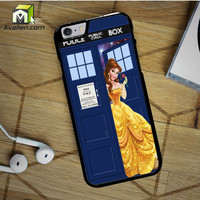 Disney Princess Belle Tardis Police Box 2 iPhone 6S case by Avallen