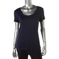 Charter Club Womens Cotton Scoop Neck Casual Top