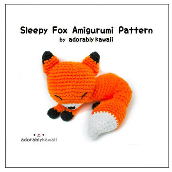 Crochet pattern fox crochet pattern amigurumi fox crochet | Etsy | 354x354