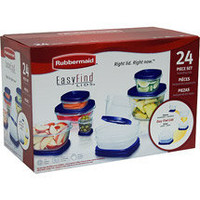 Rubbermaid 24-Piece Food Storage Easy Find Lids, Blue