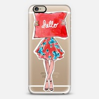 Hello in Red iPhone 6 case by athingcreated | Casetify