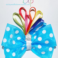 Up Hair Bow by MickeyWaffles on Etsy