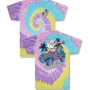 Sassy Frass No Top No Problem Jeep Tiedye T-Shirt