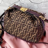 Fendi New fashion more letter canvas handbag handbag shoulder bag