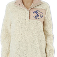 Monogram Sherpa, Pullover Sherpa, Pullover, Adult Sherpa Pullover, Adult Pullover, Monogrammed Pullover, Monogrammed Sherpa Pullover, Ivory