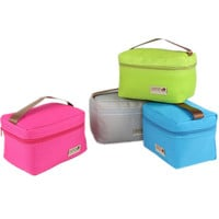 Practical Small Portable Ice Bags 4 Color Waterproof Nylon Cooler Bag Lunch Bag Leisure Picnic Packet Bento Box Food Thermal Bag
