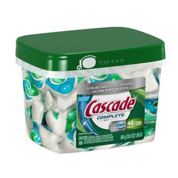 Cascade Complete All-in-1 ActionPacs Dishwasher Detergent, Fresh Scent, 30.5 Oz, 48-Count | deviazon.com