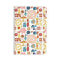 "Jane Smith ""Vintage Games"" Orange Yellow Everything Notebook"