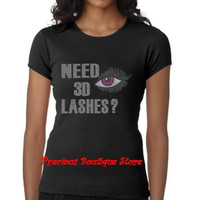 Younique Need 3D Lashes? Rhinestone Shirt