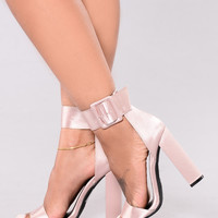 At Midnight Chunky Heels - Nude