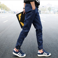Casual Men Denim Joggers