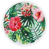 Exotic Florals Heavy Terry Round Beach Towels with Deluxe Trim