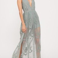 Rae Sage Embroidered Maxi Dress