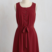 Bayfront Bliss Dress in Maroon | Mod Retro Vintage Dresses | ModCloth.com