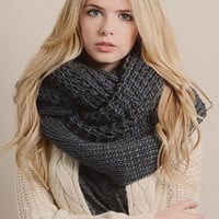 Pure Color Warming Knitted Scarf