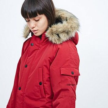 Carhartt Anchorage Parka in Red - Urban Outfitters