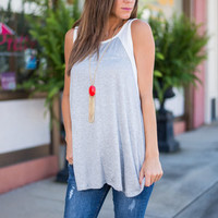 Casual My Day Tank, Gray