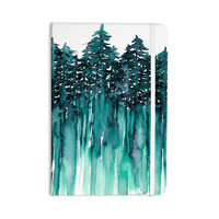 """Ebi Emporium """"Forest Through The Trees 5"""" Teal White Everything Notebook"""