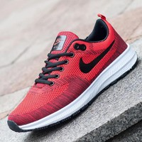 NIKE Trending Fashion Casual Sports Shoes Red black hook