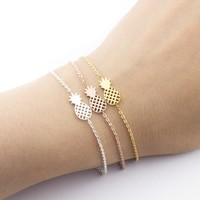 Pineapple Shape Stainless Steel Bracelet