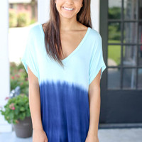 Ombre Tunic - Blue