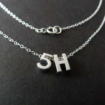 Fifth Harmony Necklace, 5H Fan Gift, Harmonizers, Sterling Silver Jewelry
