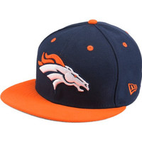 NFL Denver Broncos Kids Two Tone 59Fifty Fitted Cap, Blue, 6 3/8
