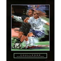 Challenge: Soccer Art Poster Print by Bill Hall, 22x28 Art Poster Print by Bill Hall, 22x28